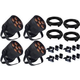 Blizzard LB Hex Unplugged Wash 4-Pack w/ Clamps & Cables