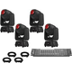 Chauvet Intimidator Spot 260 Moving Head 4-Pack w/ DMX Controller