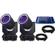 Blizzard N-Trance Moving Head 2-Pack w/ DMX Controller & Cables