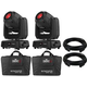 Chauvet Intimidator Spot 360 Moving Head 2-Pack w/ Bags & DMX Cables