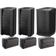 Bose F1 Model 812 Flex Array Powered Speakers w/ F1 Subs and Bags