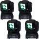 ColorKey Mover Beam 4 Zoom Mini Moving Head 4-Pack