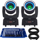 Blizzard Hypno Beam Moving Head 2-Pack with DMX Controller