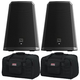 Electro-Voice ZLX-12BT 12-Inch Powered Speaker Pair w/ Gator Totes