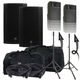 Mackie Thump12A Powered Speakers w/ Ultimate TS-100-B Stands & Totes