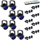Chauvet LED Pinspot 3 8-Pack w/ Clamps & IRC-6 Remote