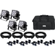 Mega Lite Baby Color Q70 Wash Light 4-Pack w/ Accessories