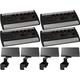 Behringer Powerplay P16-M Digital Personal Mixer 4-Pack w/ Brackets