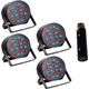 Solena Max Par 54 RGB Wash Light 4-Pack w/ DMX Interface