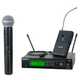Shure SLX124/85/SM58 Dual Wireless Microphone System with WL185 & SM58