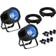 ADJ American DJ UV Cob Cannon 2-Pack w/ Clamps & Cables