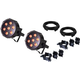 ColorKey WaferPar QUAD-W 7 LED Wash Light 2-Pack w/ Accessories