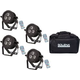 Epsilon TrimPar 3VR RGBWA Wash Light 4-Pack w/ Tote Bag