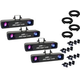 Eliminator Mirage LED Effect Light 4-Pack w/ Accessories