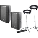 DAS Altea 412A Powered Speakers with Gator Stands
