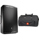 JBL EON15 Powered Speaker with Transporter Roller Bag