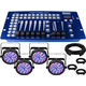 Chauvet SlimPAR 56 Wash Light 4-Pack w/ DMX Controller