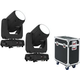 Chauvet Intimidator Beam 355 IRC 2-Pack w/ Gator Road Case