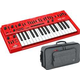 Behringer MS-101-RD Analog Synth with Keyboard Bag