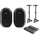 JBL One Series 104 Powered Monitors with Stands