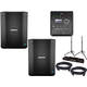 Bose S1 Bluetooth Battery Powered PA Speakers with T4S Mixer