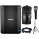 Bose S1 Bluetooth Battery Powered PA Speaker with SM58 Mic