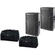 DAS Action-515A 15-In Powered Speaker Pair w/ Bags