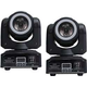ColorKey Mover Halo Beam QUAD LED Moving Head 2-Pack