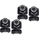 ColorKey Mover Halo Beam QUAD LED Moving Head 4-Pack