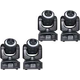ColorKey Mover Halo Spot 30W LED Moving Head 4-Pack