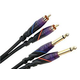 Monster 6.6 Ft DJ Cable Dual RCA to Dual 1/4 Inch