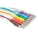 1 Ft Stereo PatchBay Cable Set of 8 1/4 to 1/4 (M