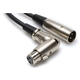 3 Ft Single XLR to Right Angle XLR (F) Cable