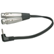 Y-Cable RT Angle 1/8 (M) to Dual XLR (F) 1 Ft