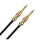Monster MROCK12 12Ft Gold 1/4 In Intsrument Cable