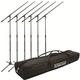 Six Microphone Stand Plus Road Bag Bonus Pack