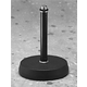 Black Round Base Table Mic Stand