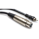 10 Ft Single Standard XLR (F) to RCA (M) Cable
