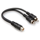 Hosa YRA-105 RCA (F) to Dual RCA (M) 6In Y-Cable
