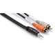 "Hosa CMR-206 6 Ft 1/8"" Stereo (M) to Left & Right (M) Cable"
