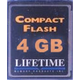 Lifetime Compact Flash Mamory Card 4GB
