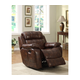 Homelegance Marille Glider Reclining Chair in Brown 9724PM-1