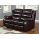 Homelegance Smithee Double Reclining Love Seat in Burgundy 9705PM-2