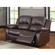 Homelegance Cranley Double Reclining Love Seat in Brown 9700BRW-2