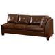 Homelegance Morgan RSF Sofa in Brown 9858BR-3R