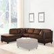 Homelegance Comfort Living 2 Piece Sectional in Chocolate