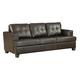 Acme Diamond Bonded Leather Sofa Sleeper in Brown 15060