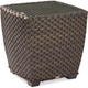 Lane Venture Leeward End Table Woven W/glass Top 9786-22