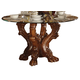 Acme Dresden Round Dining Table in Cherry 60010