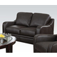 Acme Acker Leather Loveseat in Brown 50721